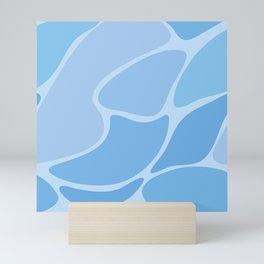 Abstract blue seamless pattern #5 Mini Art Print