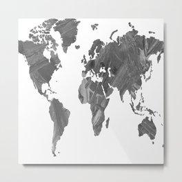 MAP-B&W Freedom vibes worldwide Metal Print