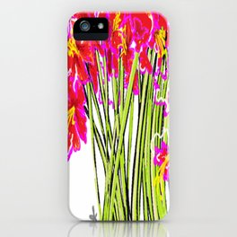 Red Flowers again, Hybiscus iPhone Case