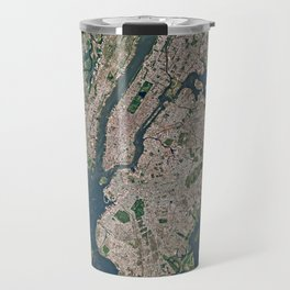 New York from space Travel Mug