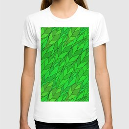 seamless pattern of green leaves T-shirt