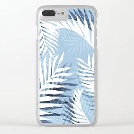 Tropical bliss - chambray blue Clear iPhone Case