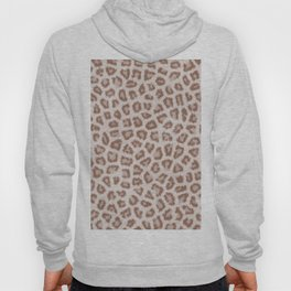 Abstract hipster brown white cheetah animal print Hoody