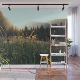 Daisy Meadow in Yosemite Wall Mural