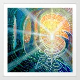 """Light Temple"" by Adam France Art Print"