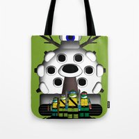 turtles Tote Bags featuring Turtles by AWOwens
