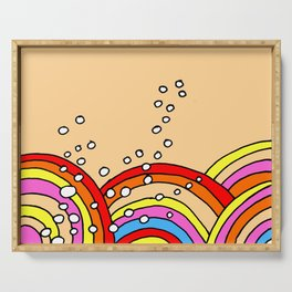 Rainbows and Bubbles Serving Tray