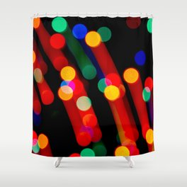 Bokeh Christmas Lights With Light Trails Shower Curtain