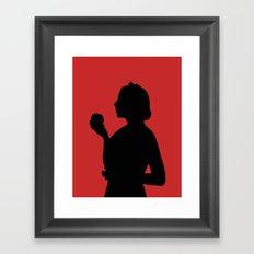 Snow White Silhouette  Framed Art Print