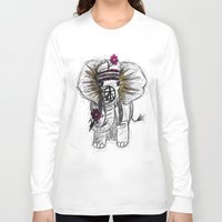 hippie Long Sleeve T-shirts featuring Hippie Elephant by  Steve Wade ( Swade)