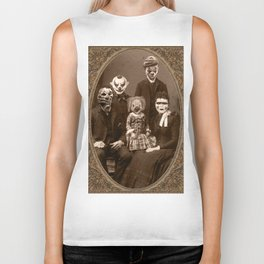 Creepy Clown Family Halloween Biker Tank