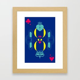 Color the King and Queen Framed Art Print