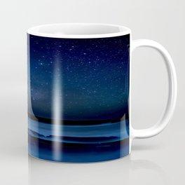 Dark Night California Coastal Waters Coffee Mug