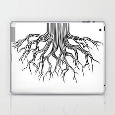 Tree Root Drawing (black on white) Laptop & iPad Skin