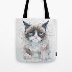 Grumpy Kitty Cat Tote Bag