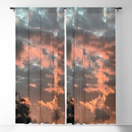 Glowing Clouds Blackout Curtain