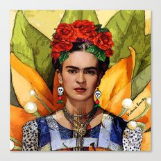 MI BELLA FRIDA KAHLO Canvas Print