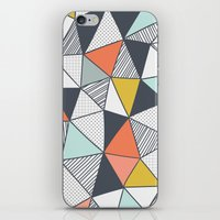 triangles iPhone & iPod Skins featuring Triangles by Patterns and Textures
