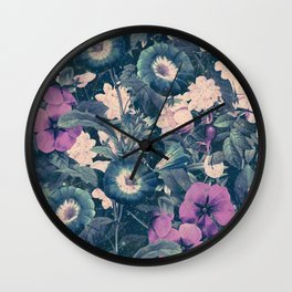 Floral Nights Space Dreams Wall Clock