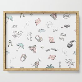 Adventure Fun Conversational Pattern Serving Tray
