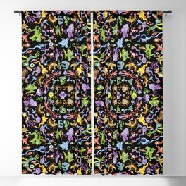 Terrific monsters posing for a colorful pattern design Blackout Curtain