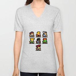 Minimalistic - Street Fighter - Pixel Art Unisex V-Neck