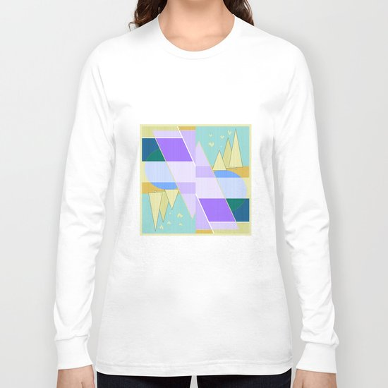 Abstraction in purple and blue colors .  Long Sleeve T-shirt