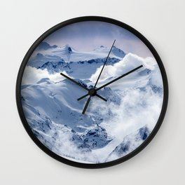Snowy Mountains and Glaciers Wall Clock