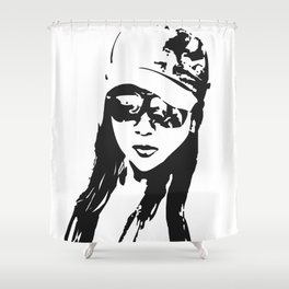 girl beach Shower Curtain