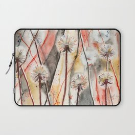 Dandelion Clock Watercolor Painting Laptop Sleeve
