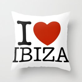 I love Ibiza Throw Pillow