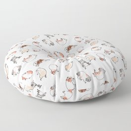 Tumbling guinea pigs Floor Pillow