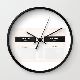 marfa watercolor illustration Wall Clock