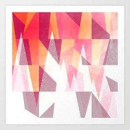 Abstract Geometric Mountains Design Art Print