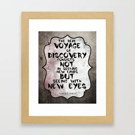 Marcel Proust about Voyage Famous Quote Framed Art Print