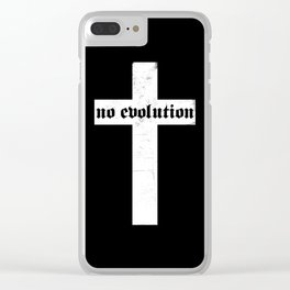 No Evolution Clear iPhone Case