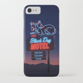 The Black Dog Motel iPhone Case