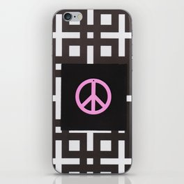 black and white symbol iPhone Skin