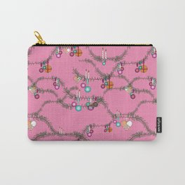 Holiday cheer hot pink Carry-All Pouch