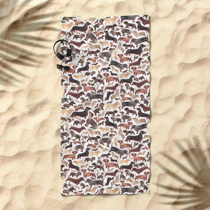 Dachshund Beach Towel