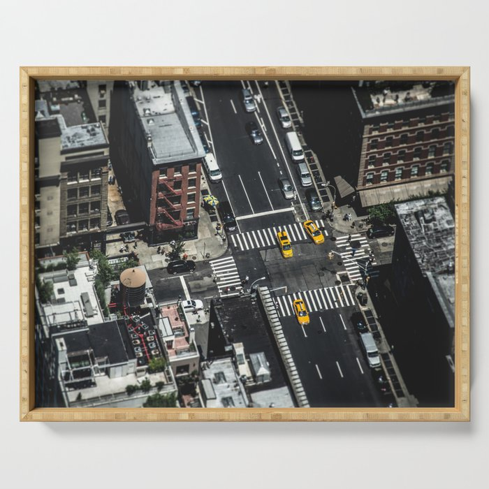 Little Yellow Cabs Serving Tray