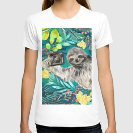 Sloth with Camera T-shirt