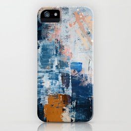 Shapes in the Clouds: a vibrant mixed-media piece in blues and pinks by Alyssa Hamilton Art iPhone Case