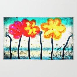 Flowers by James Eye Rug