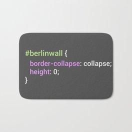 Berlin Wall CSS - Border Collapse (Dark) Bath Mat