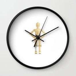 Fictional Robot/Droid Character Minimal Sticker Wall Clock