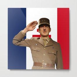 Charles de Gaulle - French President Metal Print