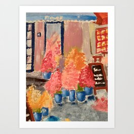 flower shop Art Print