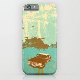 LONE BLUE ROAD iPhone Case