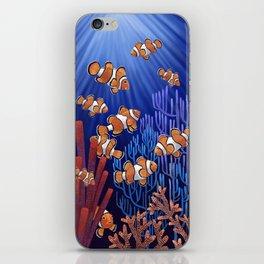 Clown Fish tank iPhone Skin
